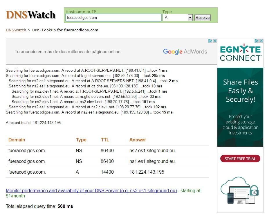 DNS Watch